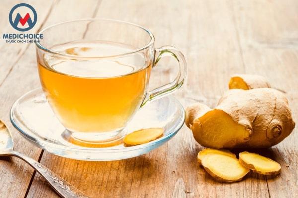 Uống trà gừng tươitrị hắt hơi sổ mũi